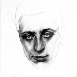 Ernest Pignon-Ernest-Portrait de Robert Desnos-2008