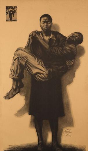 Ernest Pignon-Ernest-Soweto-2002