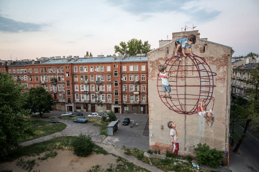 Ernest Zacharevic; visit the city of aberdeen this year