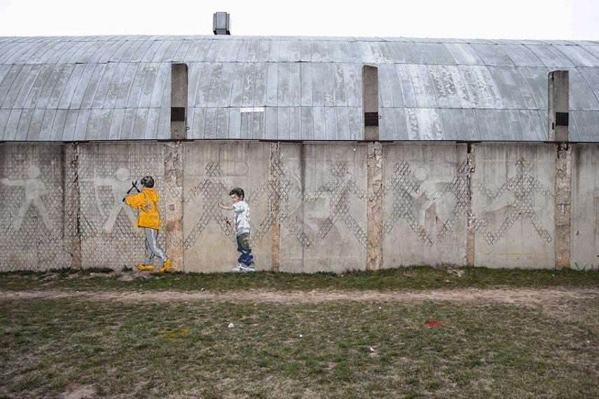 Ernest Zacharevic, Made Corrections Project, privacy wall