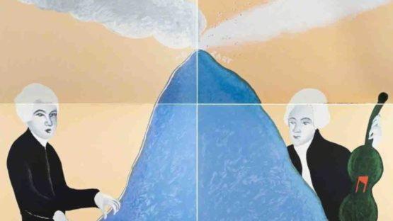 Ernesto Tatafiore - Mozart B (Quadriptych), 1985 (detail)