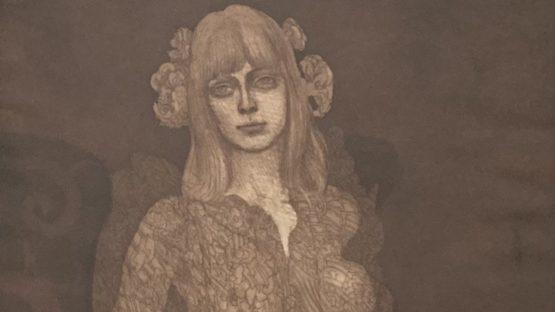 Ernst Fuchs - Eva im neglige, 1969 (detail)