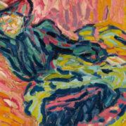 Ernst Ludwig Kirchner - Madchen Auf Dem Diwan (Girl On A Divan), 1906 (Detail)
