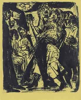 Ernst Ludwig Kirchner-Tanzendes Bauernpaar-1920