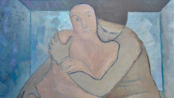 Ernst Neuschul - Lovers Embrace, 1956 (detail)