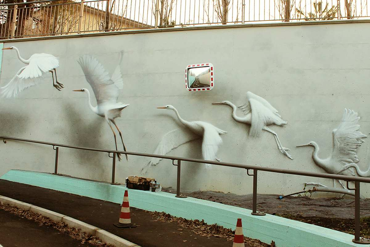 street art murals birds