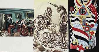Erro-Kouprianov, Krylov, Sokolov: La fin dans le souterain du Reich (1947); Mardsen Hartley: Portrait of German Officer (1914)-1966