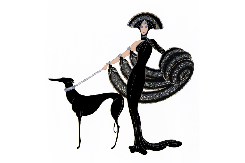 Romain de Tirtoff or Erté was one of the most famous Art Deco designers