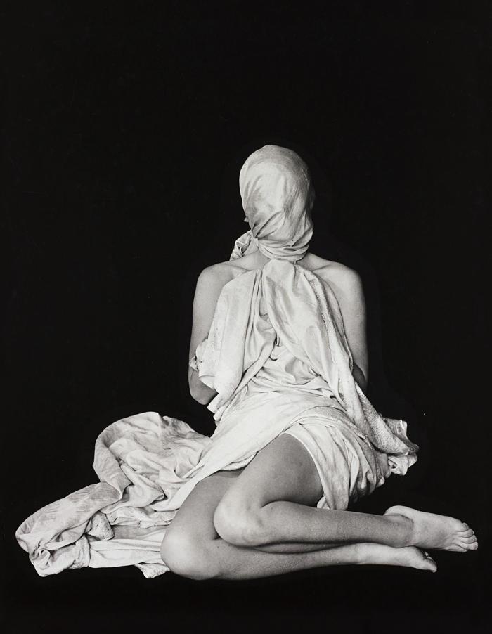 Erwin Blumenfeld-Draped Woman, Paris-1938