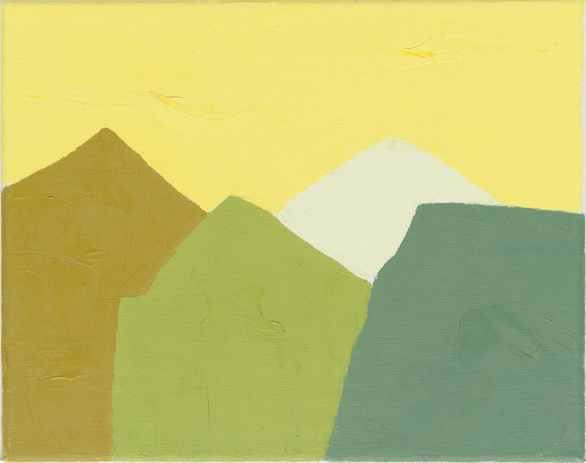 Etel Adnan - Untitled #2, 2014, photo credits Galerie Lelong, abstract landscape painting