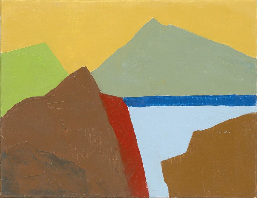 Etel Adnan - Untitled, 2014, photo credits Galerie Lelong, abstract landscape painting