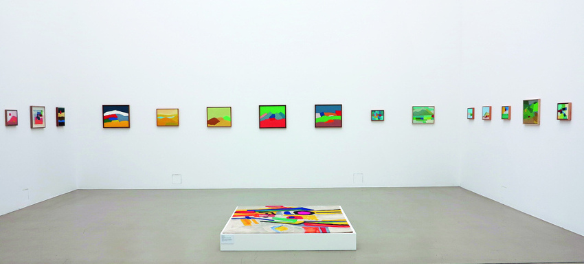 Etel Adnan, installation view of her work at Documenta 13, 2012, photo courtesy of Galleria Continua