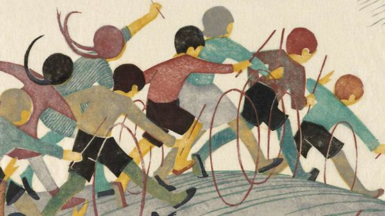 Ethel Spowers - Children s Hoops (detail)