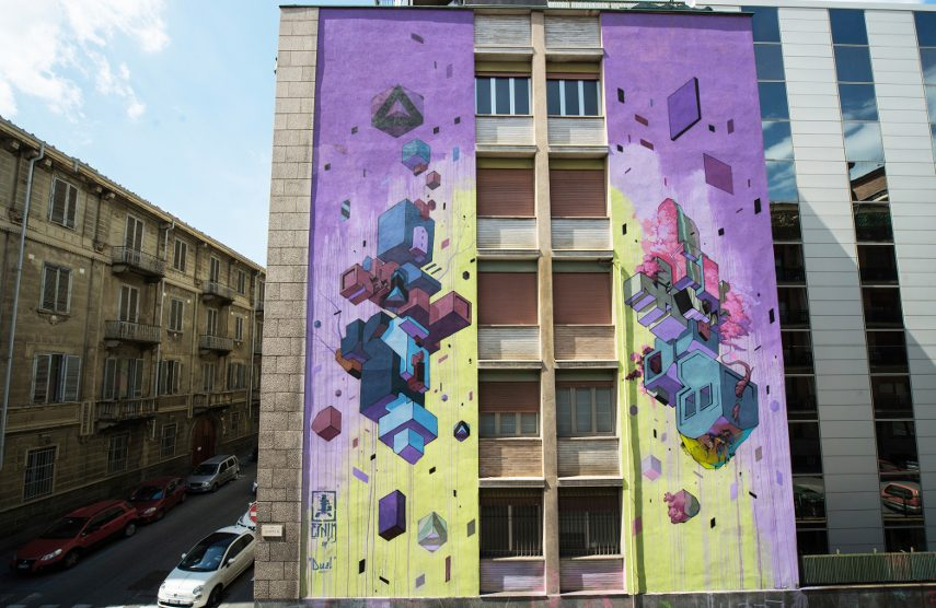 Etnik - Duel, Turin, Italy, 2017 - Image courtesy of the artist