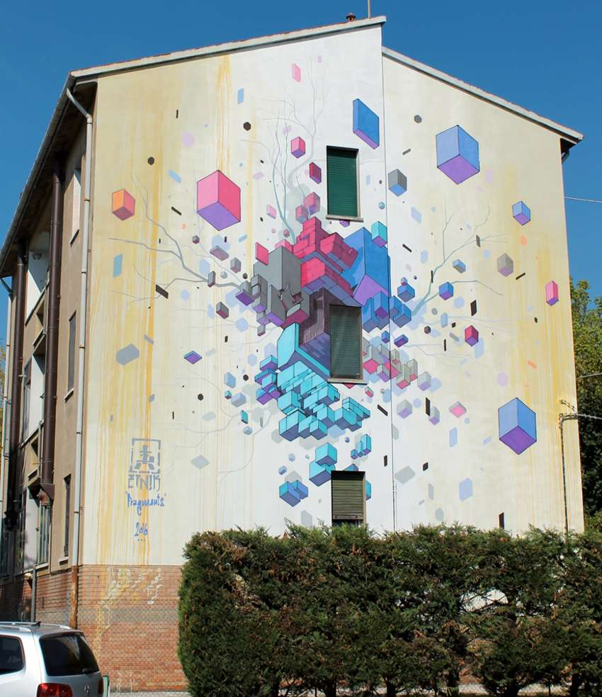 Etnik mural Restart Festival in Imola, Italy 2016