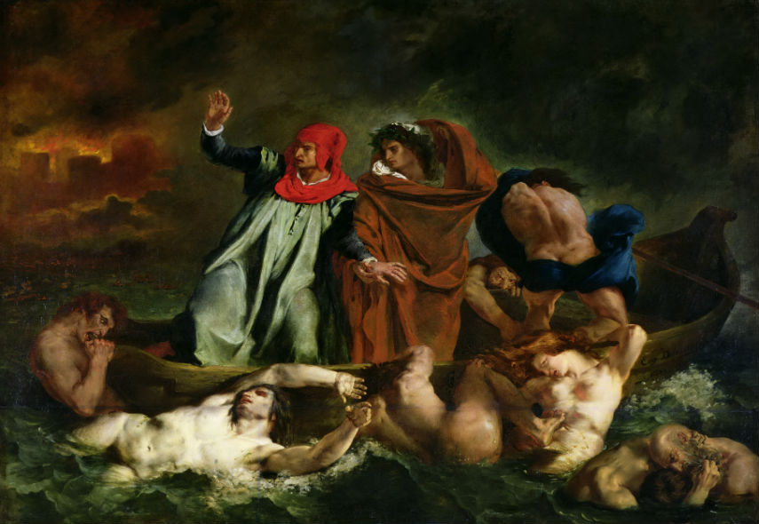 delacroix's oil french works massacre sardanapalus 1827 english