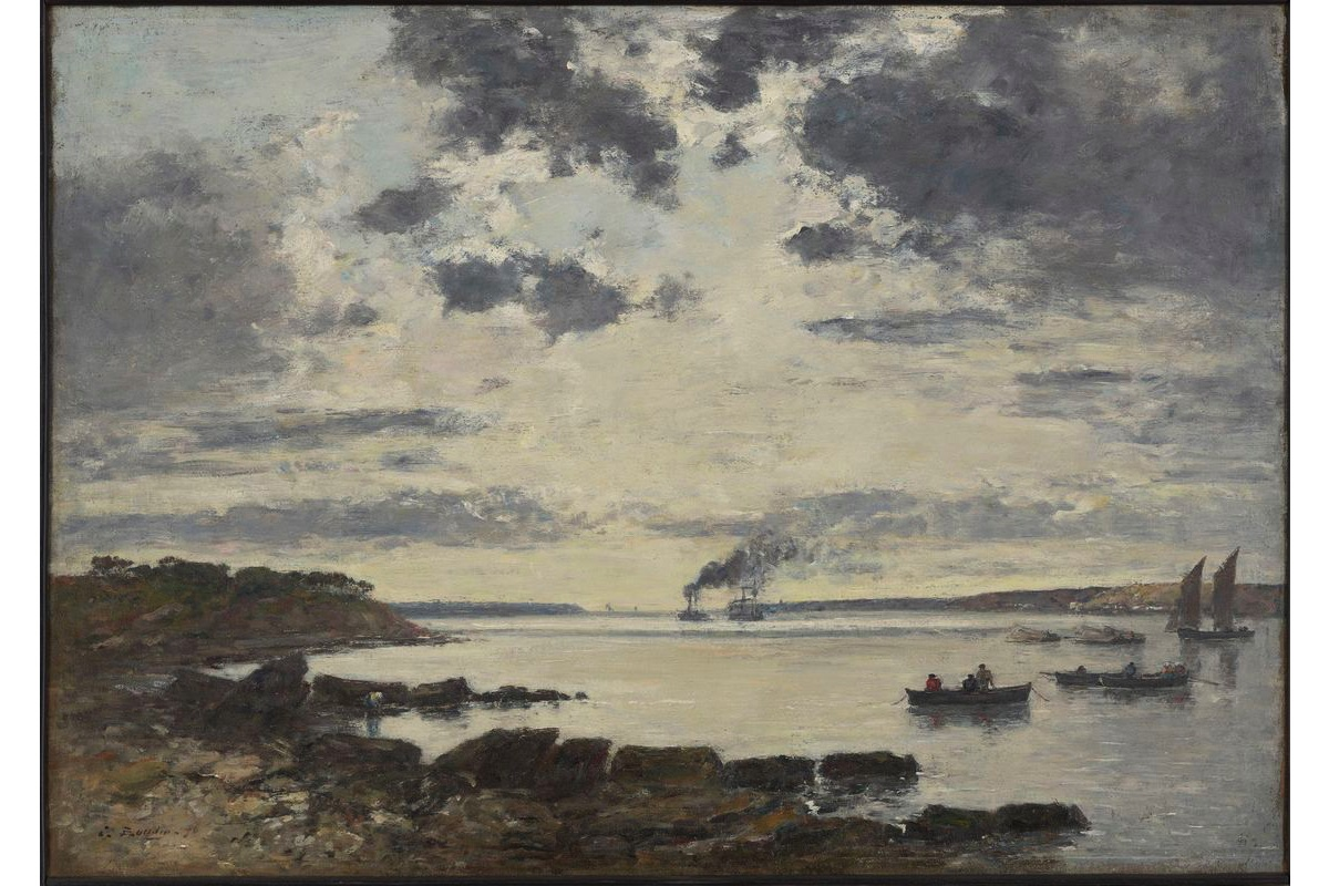 Eugène Boudin - Harbor of Brest, 1870, the Impressionism movement