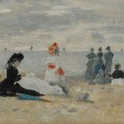 Eugene Boudin - Trouville, La Gouvernante, 1870 (detail)