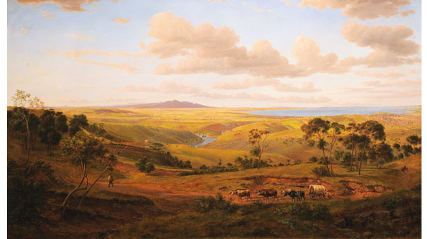 Eugene von Guérard - View of Geelong 1856 - Image via Wikipedia org