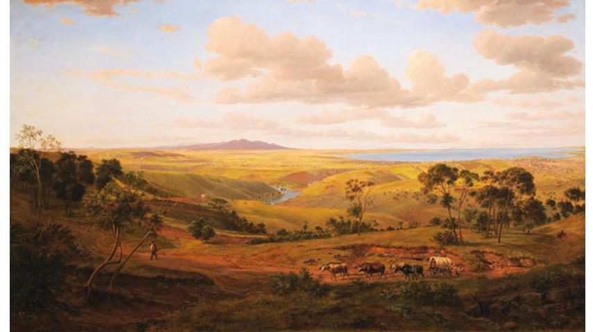 Eugene von Guérard - View of Geelong 1856 - Image via Wikipedia org