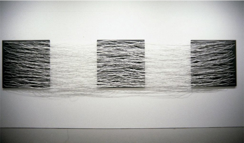 Eva Hesse - Metronomic Irregularity II, 1966 new york museum american  modern london gallery arts robert  exhibition hauser