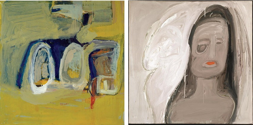 Eva Hesse - Untitled, 1960 (Left) / Spectres, 1960 (Right) new york university sol jewish biography