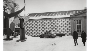 Exterior from the exhibition Andy Warhol at Moderna Museet 1968