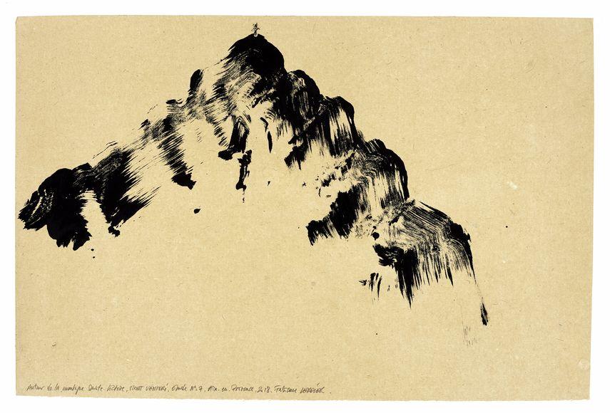 Fabienne Verdier - Autour de la montagne Sainte-Victoire, Mont Venturi, étude n°07, 2018 © Courtesy Galerie Lelong & Co