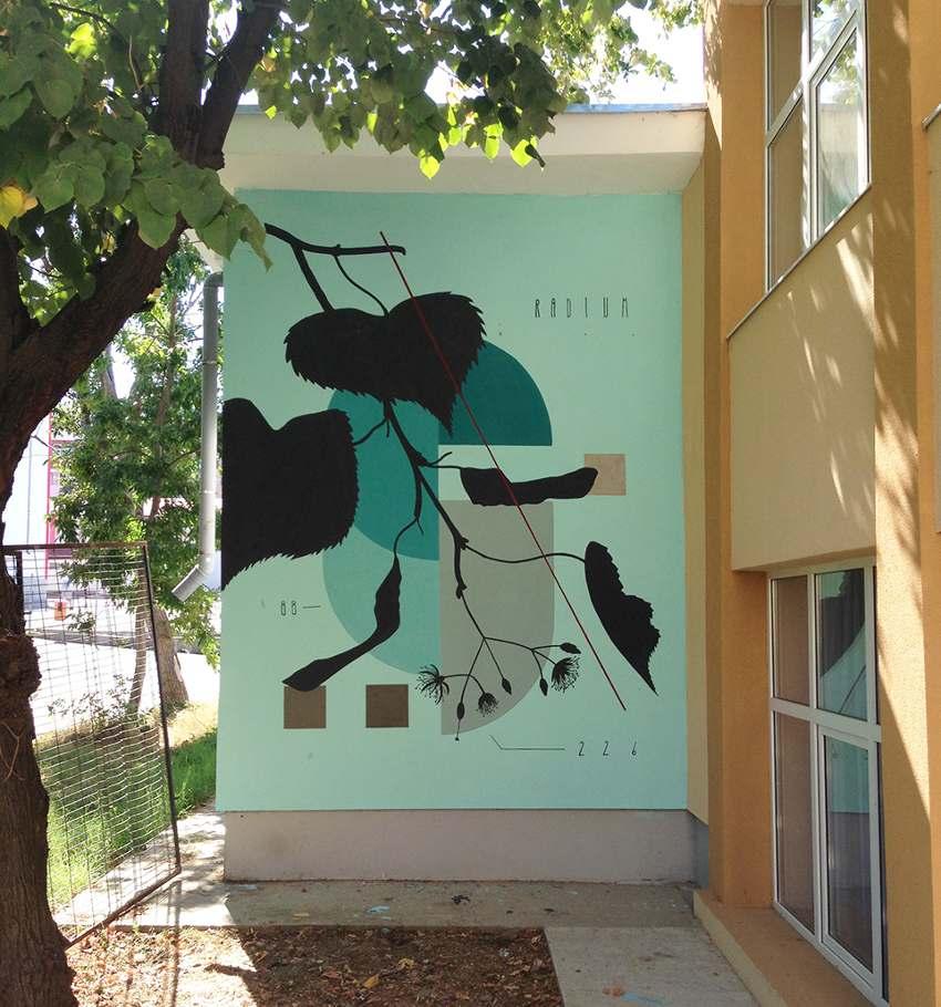 Fabio Petani - Radium & Tilia Platyphyllos, ReCollect Street Art Festival, Tulcea, Romania, 2016