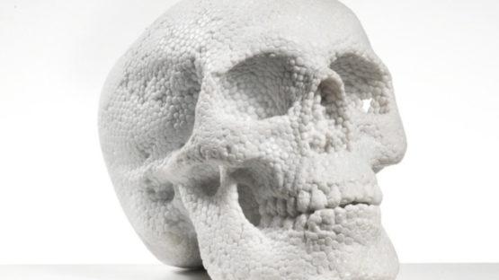 Fabio Viale - Skull, 2018 (detail)