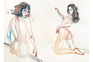 Bold Erotic Watercolors by Fahren Feingold at The Untitled Space