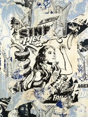 Faile-Blue 2 (Untitled)-2006