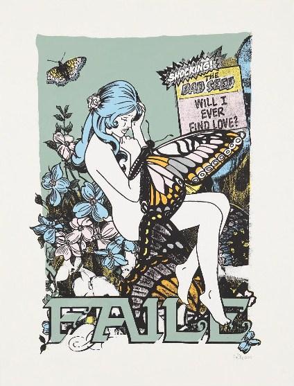 Faile-Butterfly Girl Monoprint No.5-2003