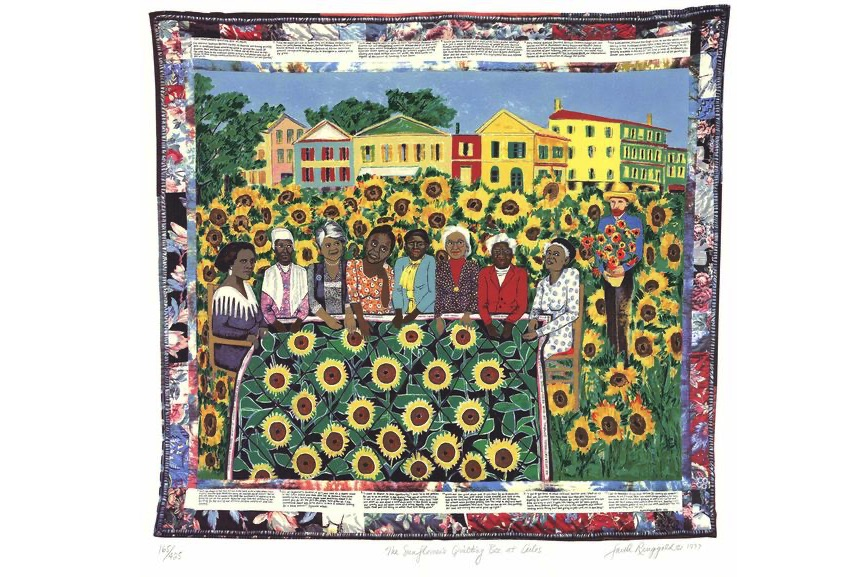 Faith Ringgold - The Sunflower's Quilting Bee at Arles
