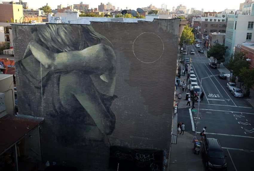 Faith47 - Lay Your Weapons Down, New York, 2015 world city years graffiti