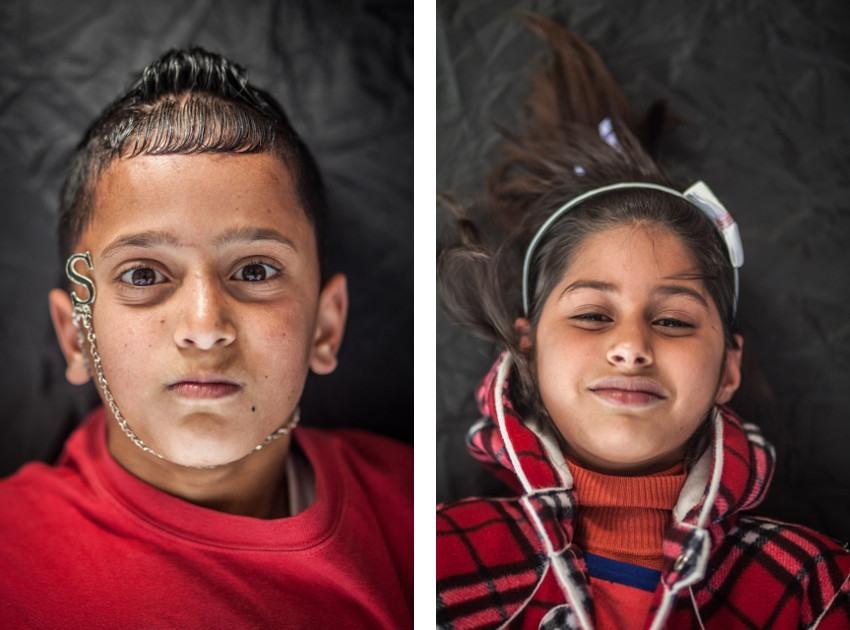 photography, Falk Lehmann aka Akut - UPSIDEDOWN portrait series - Palestinian orphans, 2015