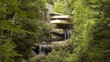 Fallingwater in Mill Run, Pennsylvania, selected in 2019 as a World Heritage site