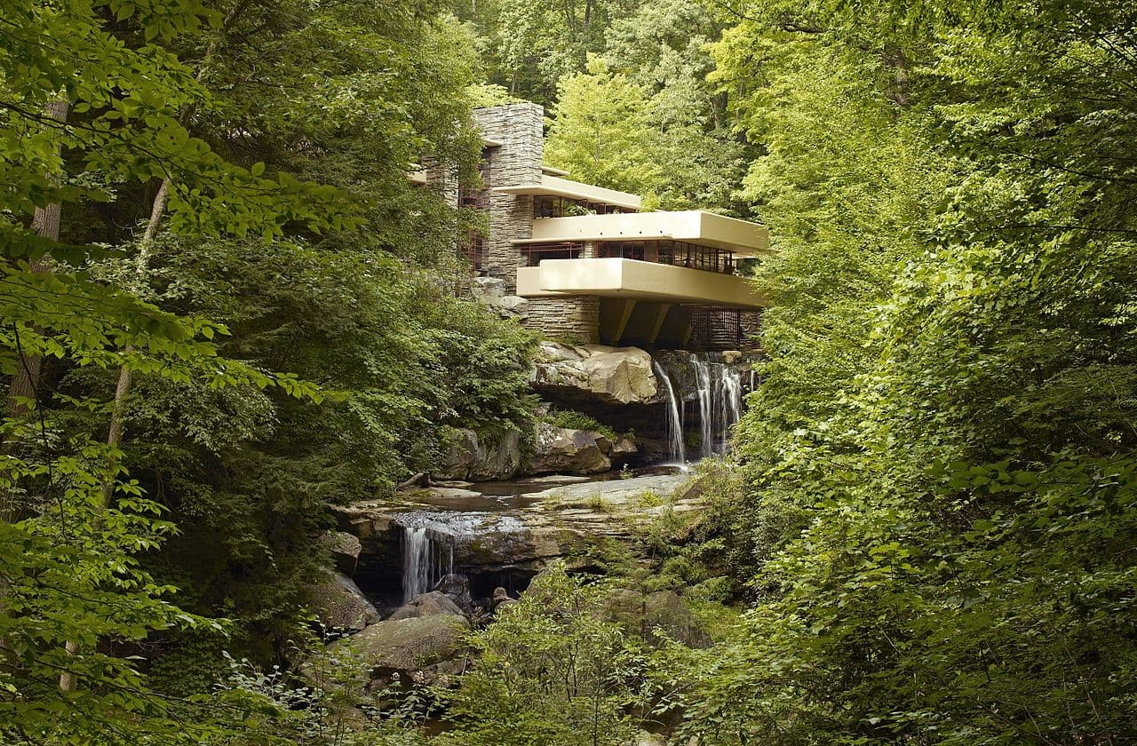 Frank Lloy Wright - Fallingwater in Mill Run, Pennsylvania, selected in 2019 as a World Heritage site