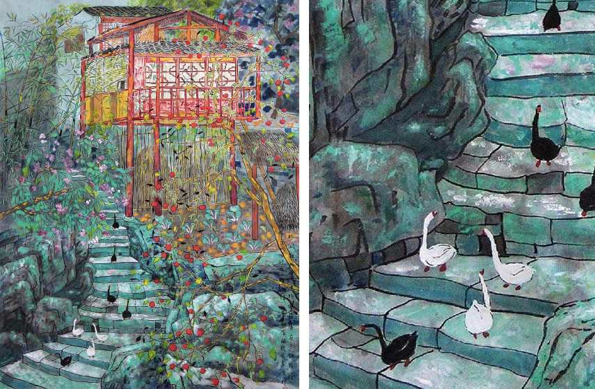 Fang Xiang - Nationality in a Norhten Cottage (Left) / Detail (Right)
