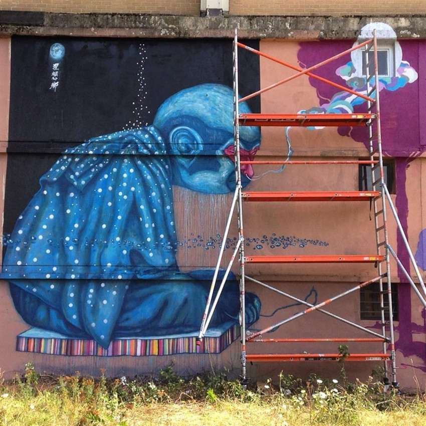 Fansack - Utopia, Kosmopolite Art Festival in Louvain-la-Neuve, Belgium, 2015