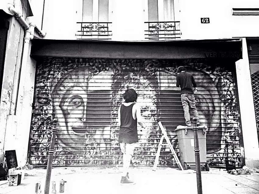 Fansack x Colasa - Untitled, work in progress, Paris, France, 2015