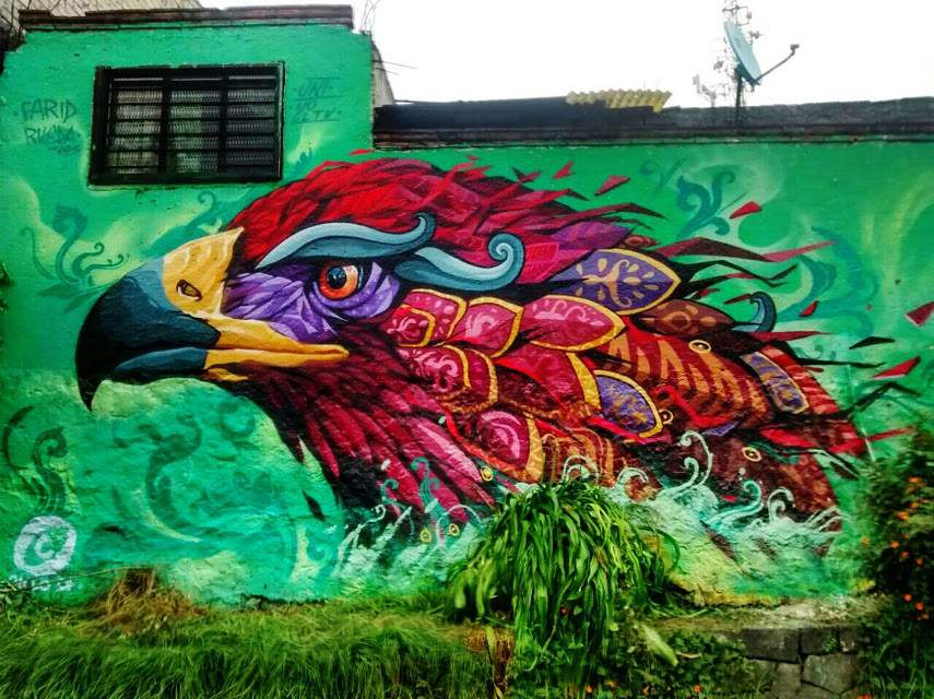 Farid Rueda - Wings of destiny - mural arte pintura más facebook 2015 2016