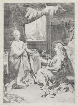 Federico Barocci-The Annunciation (Bartsch 1)-1585
