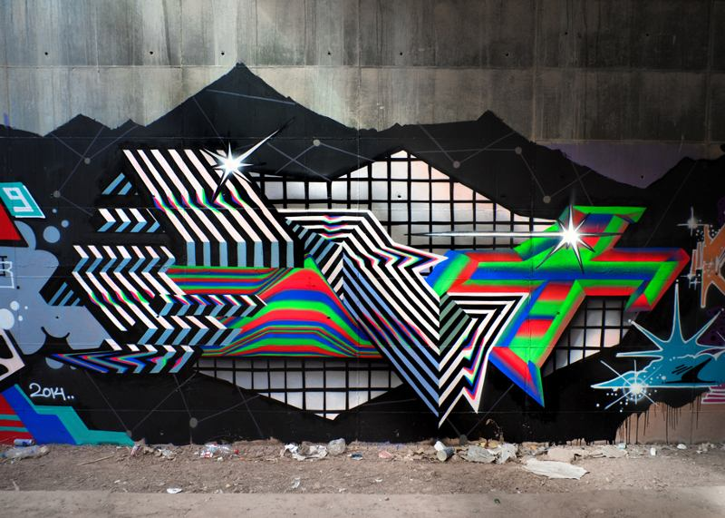 video mural, street