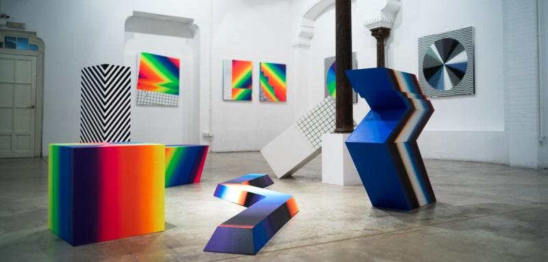 Felipe Pantone - Opticromias, Delimbo Gallery, 2014-15