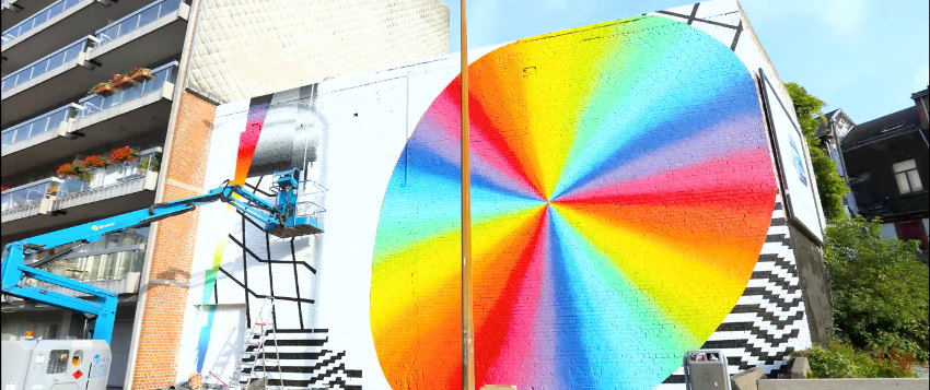 new video gallery Felipe Pantone - in progress, Liege, Belgium - photo credits Selina Miles