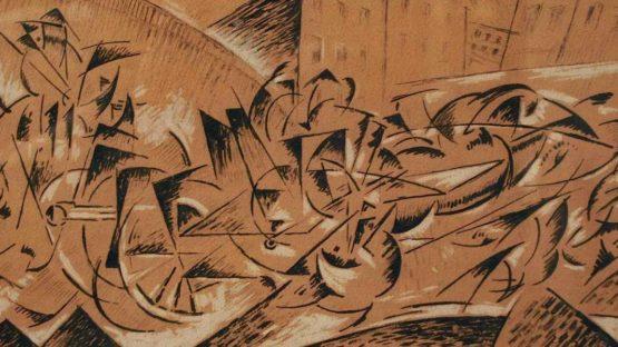 Felix Del Marle, Composition futuriste- Passage d'artillerie 1914
