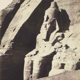 Felix Teynard-Colossal Statues Seen from Three-Quarters View, the Temple of Ramese at Abu Simbel-1852