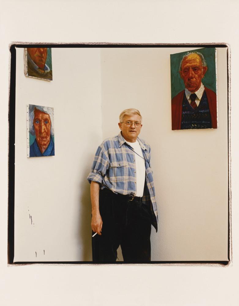 Fergus Greer-David Hockney In His Studio, Woodrow Wilson Drive, Hollywood Hills, California, Usa-1997