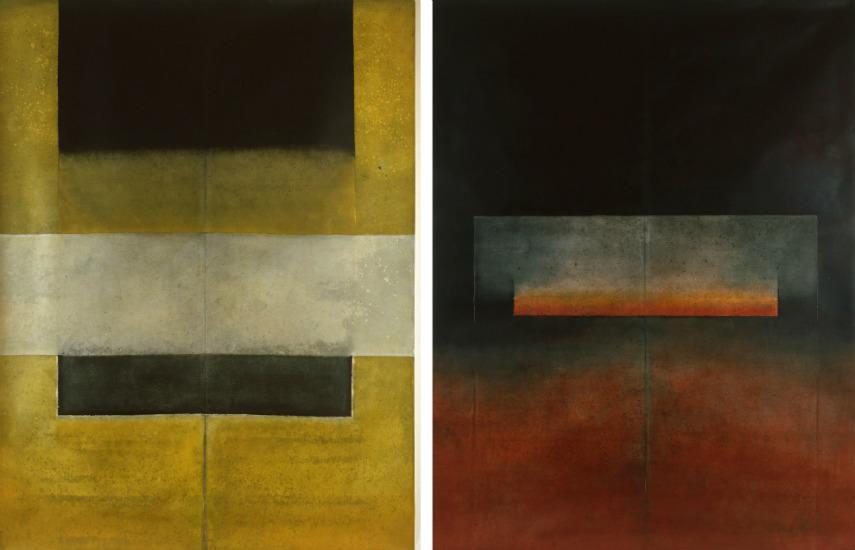 Ferle - Untitled XLIII (left) - Untitled XLI (right)